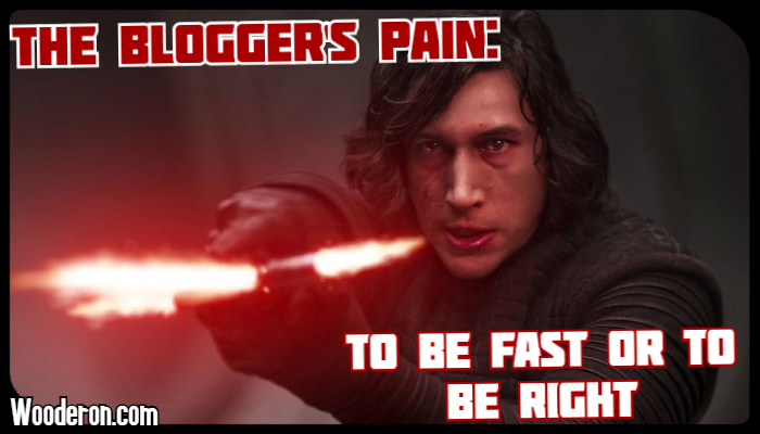 The Blogger's Pain: To be Fast or to be Right